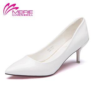 奥康旗下美丽佳人漆皮细跟高跟鞋新款尖头OL单鞋时尚简约女鞋