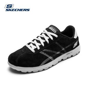 skechers斯凯奇舒适男鞋 车缝线男士休闲鞋 英伦系带豆豆鞋s