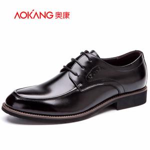奥康男鞋 2016春季新款男士商务正装职场圆头舒适透气英伦德比鞋