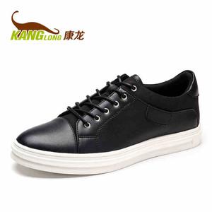 康龙男士休闲鞋板鞋 春夏韩版潮流圆头滑板鞋 系带低帮流行男鞋子
