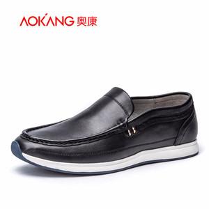 奥康男鞋 春夏季新款真皮套脚运动耐磨韩版男士休闲皮鞋低帮鞋子