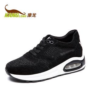 康龙16夏季新款女网布鞋 透气舒适耐磨防滑系带运动风休闲鞋女鞋