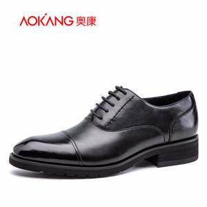 奥康男鞋 新款尖头真皮商务皮鞋男士正装皮鞋 英伦风正统牛津鞋