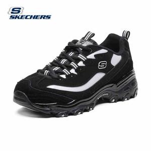 斯凯奇国际明星同款D'lites新品厚底男女运动黑白熊猫鞋s