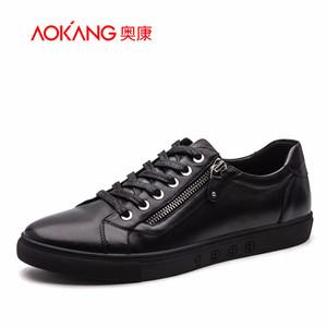 奥康男鞋 新款韩版真皮时尚潮鞋软底简约舒适学院风休闲鞋皮鞋子