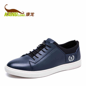 康龙16秋季新款 低帮系带轻质板鞋 平底舒适耐磨休闲鞋日常男鞋