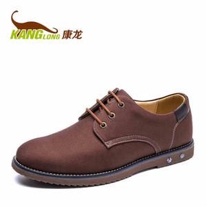 康龙秋季新款轻质男鞋低帮平底耐磨伐木鞋日常休闲鞋系带布鞋