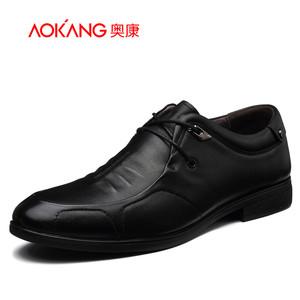 【门店发货】奥康男鞋 新款真皮商务休闲鞋耐磨简约皮鞋161211236