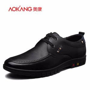 【门店发货】奥康男鞋 新款真皮舒适简约大方商务休闲鞋161424057