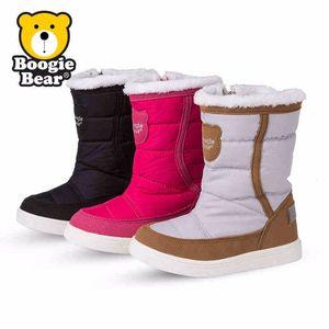 Boogiebear韩国童鞋儿童雪地靴女童靴子防滑防水冬季男中童鞋子潮