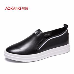 【门店发货】奥康女鞋 乐福鞋舒适百搭纯色平底小白鞋女休闲板鞋