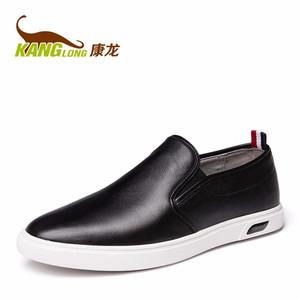 康龙春季新款 低帮乐福鞋 真皮舒适套脚平底耐磨休闲日常男鞋板鞋s
