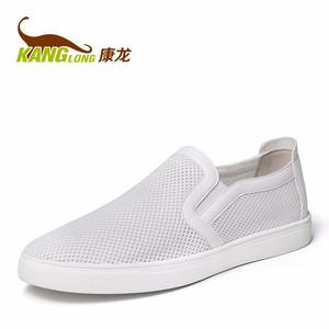 康龙春夏新款网布鞋 透气舒适轻质男鞋 平底耐磨防滑套脚网面鞋