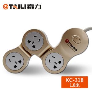 泰力KC系列1.8米 插座 智能家居  创意电插板 插排 接线板魔方插座壳转动插【3C数码】