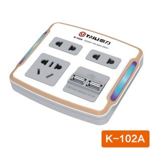 泰力K系列102A插座 智能家居 电源插座转换器 转插座排插接线板【3C数码】