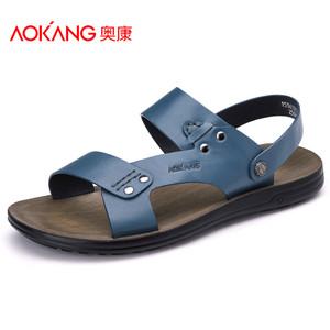 奥康凉鞋 男士夏季新款真皮罗马休闲凉鞋头层皮沙滩鞋 男鞋
