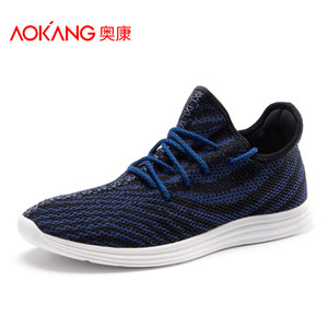 奥康夏季新款男鞋 飞织网面运动鞋男健步鞋时尚飞织运动鞋休闲鞋
