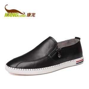 【门店发货】康龙男士鞋子潮鞋 韩版潮真皮套脚乐福鞋休闲鞋板鞋男