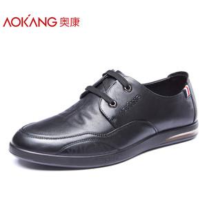 奥康男鞋 秋季新款系带真皮正品日常休闲鞋 男士皮鞋正品单鞋子