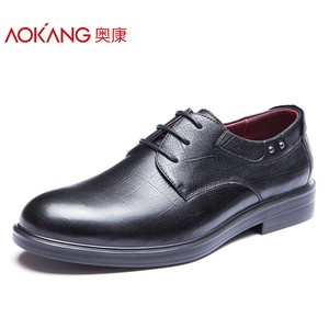 奥康男鞋 秋季新款正装皮鞋男真皮单鞋黑色男士皮鞋商务鞋子男