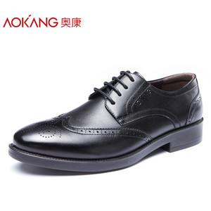 奥康男鞋 秋季新款布洛克雕花男鞋正装商务正装真皮鞋子男低帮鞋