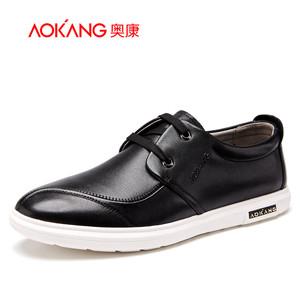 【门店发货】奥康男鞋 新款真皮舒适简约皮鞋子休闲鞋韩版低帮鞋