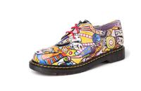 康龙春款新品女单鞋 牛皮低帮系带休闲鞋涂鸦花色日常女鞋