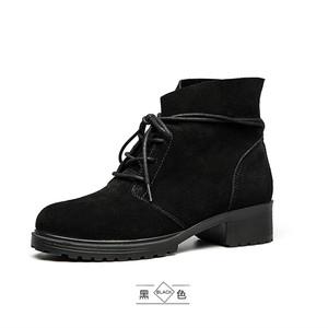 奥康女鞋 高帮欧美简约潮流马丁靴 女时尚款潮出街
