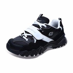 Skechers斯凯奇D'lites休闲鞋情侣款撞色拼接 熊猫鞋 88888108