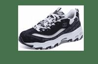 Skechers斯凯奇D'lites女鞋休闲鞋 拼接钻石熊猫鞋运动鞋 12241