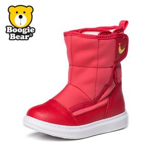 卜吉熊童鞋儿童雪地靴2017冬季新款男童二棉鞋女童靴子宝宝鞋加绒