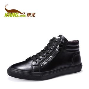 商场同款 康龙冬新品高帮鞋男士板鞋韩版潮流黑色运动休闲鞋男鞋