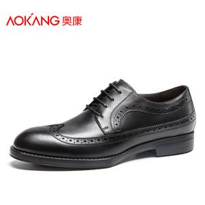 奥康布洛克男鞋皮鞋男时尚尖头真皮商务正装男鞋英伦潮流绅士鞋子