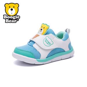 boogiebear童鞋2017秋季新款儿童运动鞋小女童跑鞋冬季宝宝鞋子男