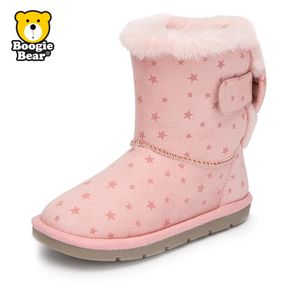 boogiebear童鞋女童靴子宝宝长靴潮冬季男童二棉鞋儿童雪地靴加绒
