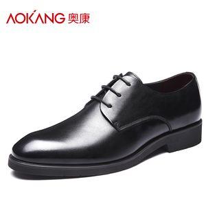 【奥康30周年】奥康男鞋商务皮鞋男士韩版头层牛皮真皮透气潮流系带正装德比鞋子