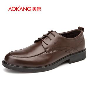 奥康官网 奥康男鞋 新款商务圆头系带透气耐磨牛皮都市时尚正装男士皮鞋