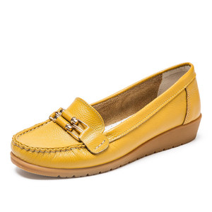【线下同款】奥康官网女鞋春季新品 圆头金属装饰奶奶鞋单鞋女