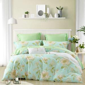 水星家纺 缕缕花香四件套纯棉双人床单被套全棉花卉床上用品