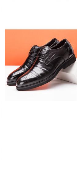 奥康男鞋 男士圆头布洛克雕花鞋头真皮皮鞋男商务正装低帮鞋子