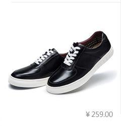 康龙新款男士低帮板鞋 真皮休闲鞋韩版潮流系带流行男鞋子小白鞋