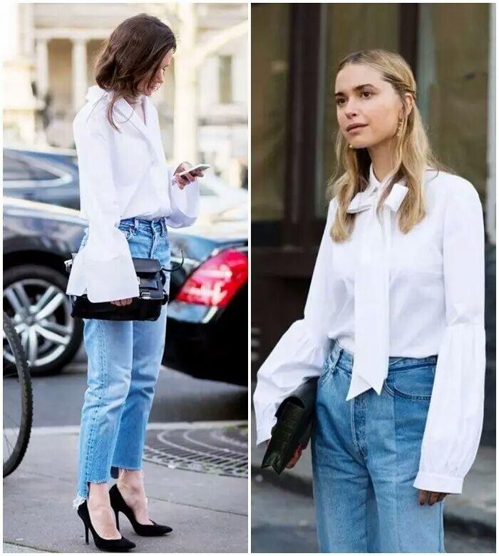 爱拍客设计感白衬衫搭配
