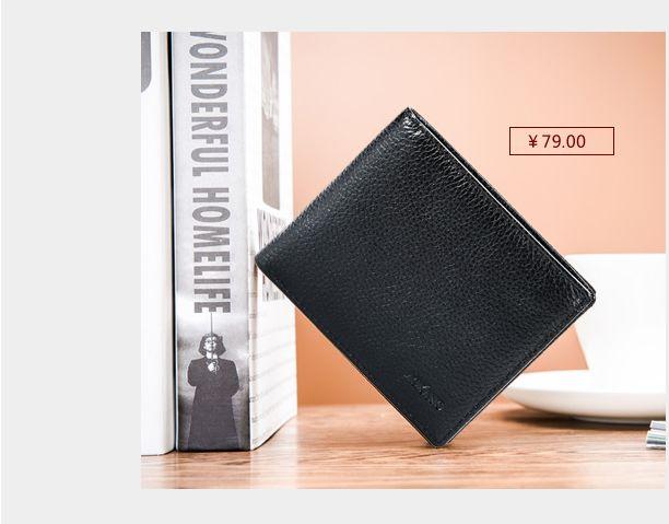 奥康钱包头层牛皮男子短款超薄男士钱包软真皮横款简约日韩正品牌