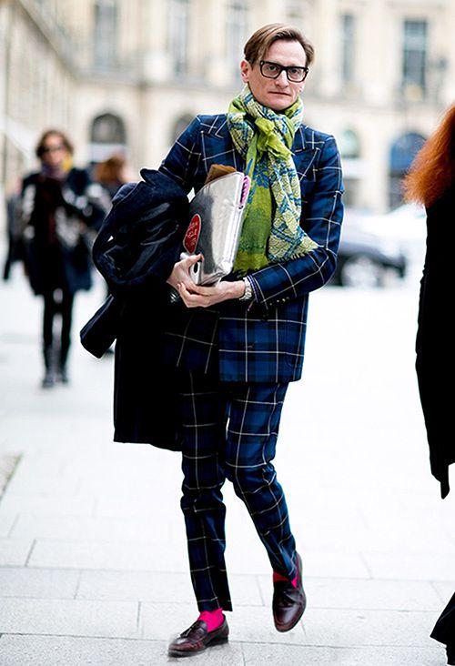 格纹西装可以不搭配男士皮鞋