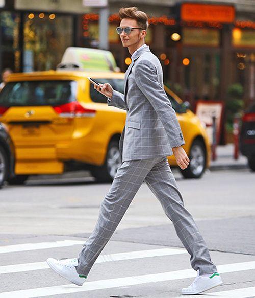 男士皮鞋不是格纹西装的标配