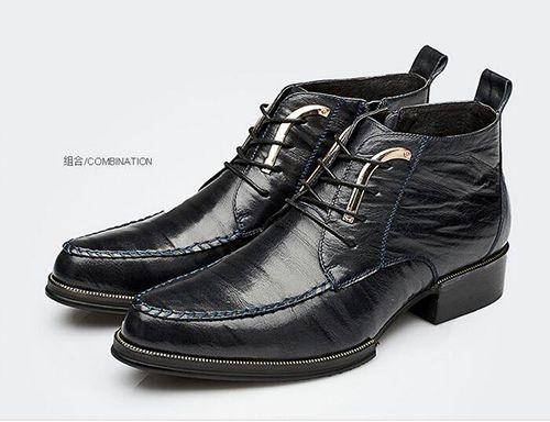 高帮休闲皮鞋