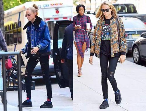 黑色运动鞋的时尚资讯