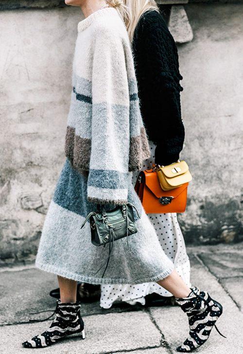奥康低跟鞋+长裙