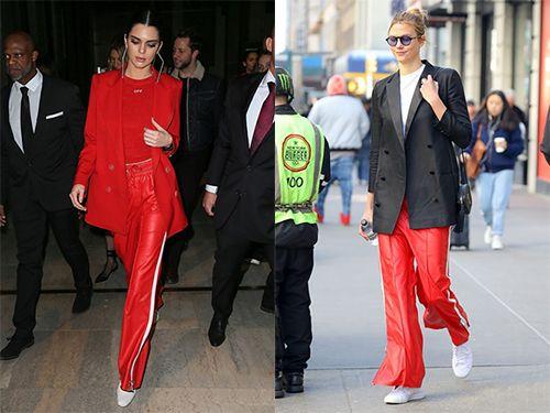 时尚资讯:彩色阔腿裤