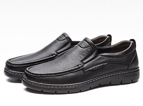 中老年人休闲皮鞋选购